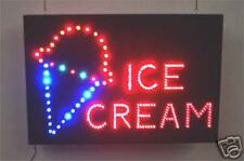 NEW Graphic Ice Cream and ICECREAM word LED neon SIGN