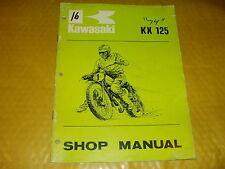 KAWASAKI KX125 KX 125 GENUINE SHOP MANUAL