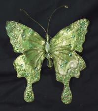 New Clip Butterfly Christmas Ornament Craft Wedding Wreath Decoration Green Gold
