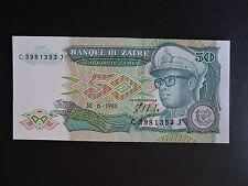 """ZAIRE RDC 50 Zaires de 1988 état neuf  """"unc"""""""