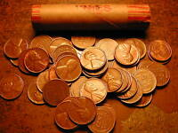 1955-P LINCOLN WHEAT CENT PENNY ROLL, nice condition