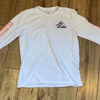 Jordan Nike Men's Sportswear Greatest Long Sleeve White T-Shirt AV6011 Medium
