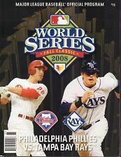 World Series Baseball Program Phillies Vs Tampa Bay Rays 2008 012418nonr