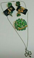 Lot of 5 St. Patricks day 4 Pin'S-1 Necklace-1Pr Earring'S