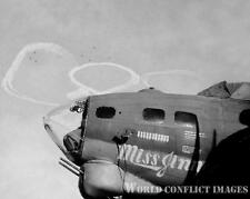 USAAF WW2 B-17 Bomber Miss Jinny 8x10 Nose Art Photo 388th BG ETO WWII