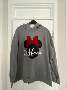 Asda George Grey  Minnie Mouse Hoodie Size Large