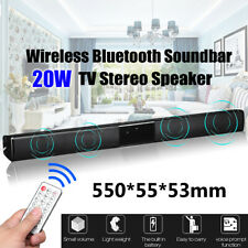 Wireless bluetooth Soundbar TV Stereo Audio Speaker Subwoofer Home Theater