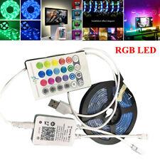WIFI 30SMD/M RGB LED TV Back Lighting Strip Light Bar Kit USB Atmosphere Lamp
