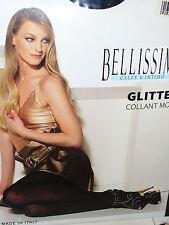 2 collant BELLISSIMA mod.GLITTER BRILLANTINATO Taglia 4 colore nero
