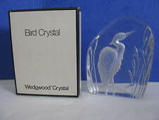 Rare Vintage Wedgewood Lead Bird Crystal Heron Paperweight Ornament