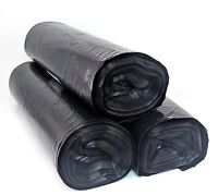 55 Gallon Thick Black Drum Liner Trash Garbage Bags 40 Ct LDPE - FREE PRIORITY