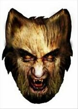 Gruselig Werewolf Halloween Spaß KARTE Einzeln Party Gesichtsmaske