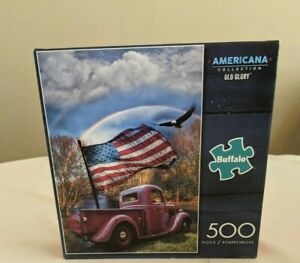 Buffalo 500 Piece Puzzle Old Glory Complete With Poster