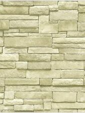 3-D Rectangular Stacked Stone in Off White Wallpaper SR026199 / BC1581935