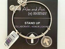 Genuine Alex and Ani Stand Up to Cancer Silver Tone Bracelet NWT and Card
