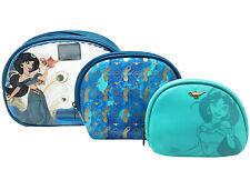 $ New Loungefly Disney Aladdin Jasmine Cosmetic Makeup Pouch Bag Case Purse Set