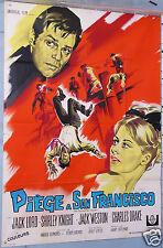 AFFICHE ANCIENNE FILM 1968 PIEGE A SAN FRANCISCO JACK LORD  SHIRLEY KNIGHT