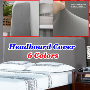 Dustproof Bedroom Stretch Bed Headboard Cover Head Slipcover Twin Queen Size