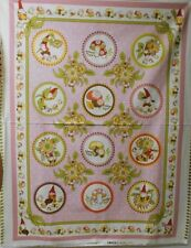"""1 In the Beginning """"Better Gnomes & Gardens"""" Lap Quilt/Wallhanging fabric Panel"""
