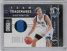 DIRK NOWITSKI 2011/12 PANINI LIMITED TEAM TARDEMARKS PATCH CARD #6/10