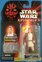 Star Wars Obi-Wan Kenobi (Naboo) w/ Lightsaber & Handle, red card, Ep1 TPM