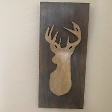 Pallet Wood Deer Head Plaque Wall Art Rustic Cabin Home Decor