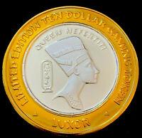 .999 $10 Silver Strike •Luxor Casino • Las Vegas • Queen Nefertari • 2000
