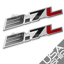 2 - BRAND NEW 3.7L Aluminum Embossed Adhesive Badge Emblems 350z  3.7L Black Red