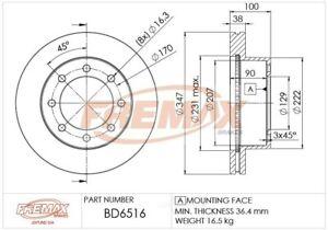 Disc Brake Rotor-4WD Front Fremax BD6516