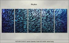 Large Original Metal Wall Art Shining Abstract Indoor Outdoor Decor by Artist