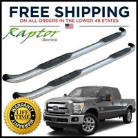 """Raptor Series 3"""" Side Steps Nerf Bars SS for 2000-2016 Ford Super Duty Crew Cab"""