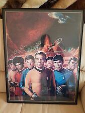 Star Trek TOS Crew Autogramm / Autograph Litograph (7) Shatner / Nimoy / Kelley
