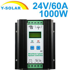 50A 24V 1000W Wind Solar Hybrid Charge Controller LCD 600W Wind and 400W Solar