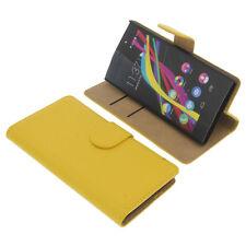Custodia per Wiko Highway Star Book-Style Guscio Protettivo Custodia Cellulare libro giallo