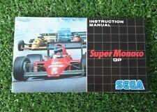 Super Monaco GP SEGA Mega Drive Instruction Manual Booklet 199O VGC MANUAL ONLY