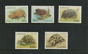 E995 Azerbaïdjan 1995 Faune Tortues 5v. MNH