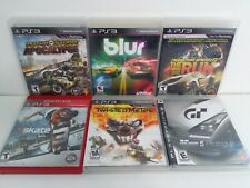PS3 Game LOT: Blur MotorStorm Apocalypse Twisted Metal NFS The Run Skate 3 Gran