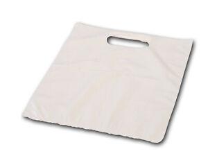 Tragetaschen - DKT 35my Plastiktüten - Plastikbeutel Beutel - Weiß - 38x45x40cm