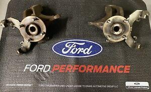 02-04 Ford Focus SVT Front Spindles Knuckle Hub & Caliper Brackets Set OEM