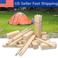 Wooden Kubb Lawn Game Family Garden Toy Block Outdoor Chess Boules � Us Us