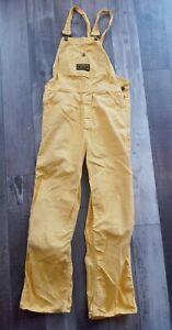 Vintage Washington Dee cee overalls Size XS Bright Yellow bibs 1970s