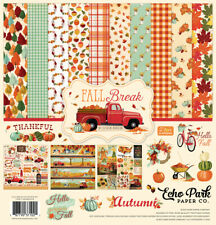 Echo Park Paper - Fall Break 12x12 Scrapbook Kit Papers + Stickers Family Home