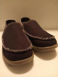 Crocs Men's Santa Cruz Black/Khaki Frayed Edges Loafers - Size 9 10128-062