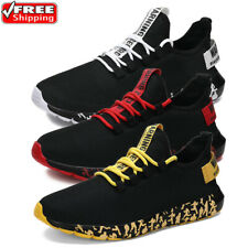 New listing Lightweight Breathable Sports Running Sneakers Mens Casual Walking Tennis Shoes