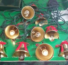 Musical bells of Mr Christmas 10 lighted brass bells play twenty one songs IOB