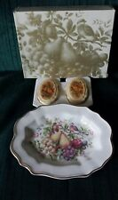 Vintage ~Avon~NATURE BOUNTIFUL~ Ceramic Plate 1976~Two fragranced soaps