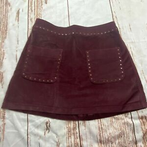 Abercrombie & Fitch womens soft mini skirt-brown-size 0-guc
