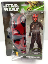 NEW STAR WARS Darth Maul Action Suit Mask Dress Up Role Play Costume Size 8-10