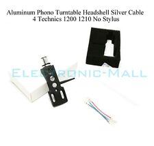 Aluminum Phono Turntable Headshell Silver Cable 4 Technics 1200 1210 No Stylus