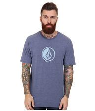2015 Nwt Mens Volcom Stacking Surf Tshirt $30 M matured blue Anti-Uv rash